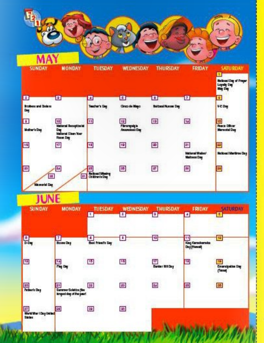 My Best Friends christian magazine for kids bimonthly calendar