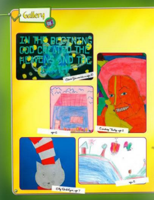 My Best Friends christian magazine for kids art gallery page