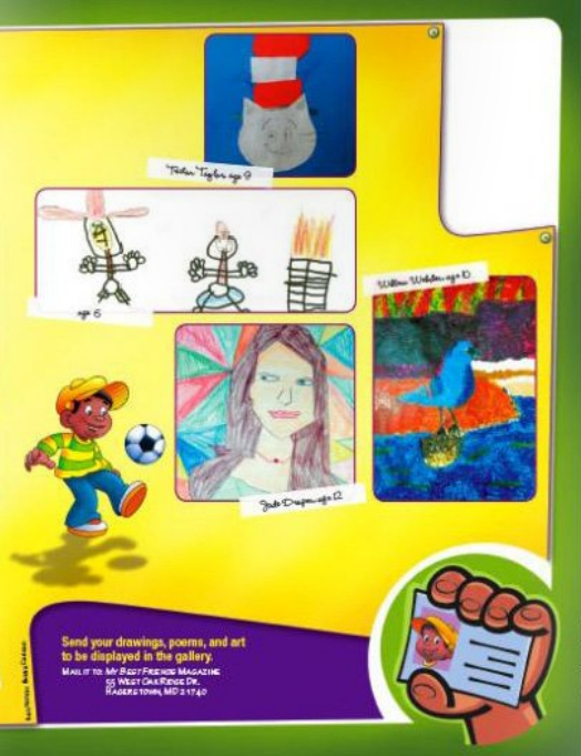 My Best Friends christian magazine for kids and readers art gallery page continuation