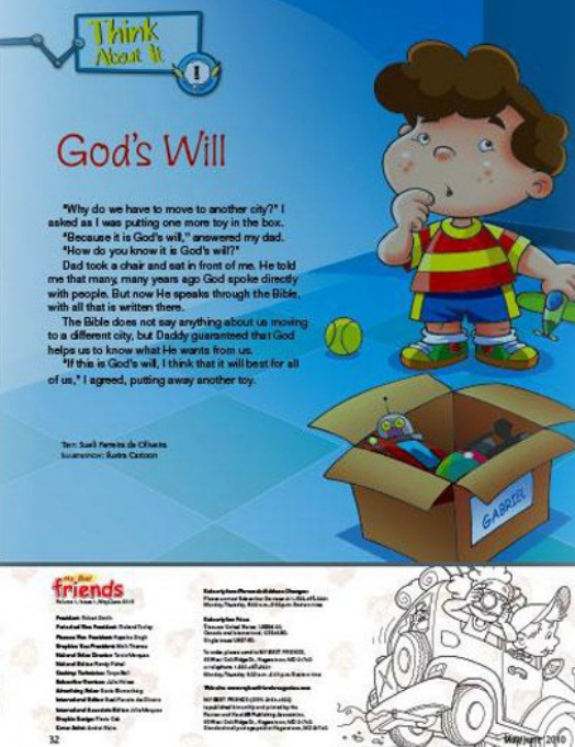 My Best Friends christian magazine for kids think about it page