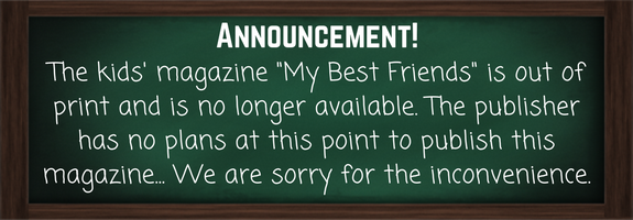 Kids' magazine announcement