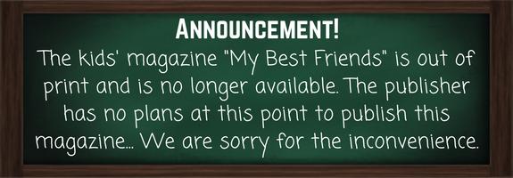 Kids' magazine announcement